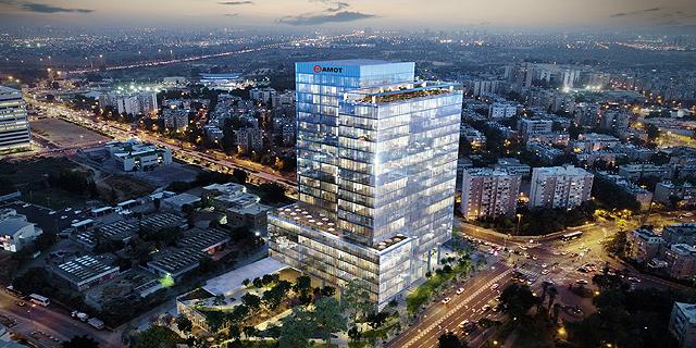 אמות השקעות תבנה באזור התעשייה בחולון מגדל משרדים