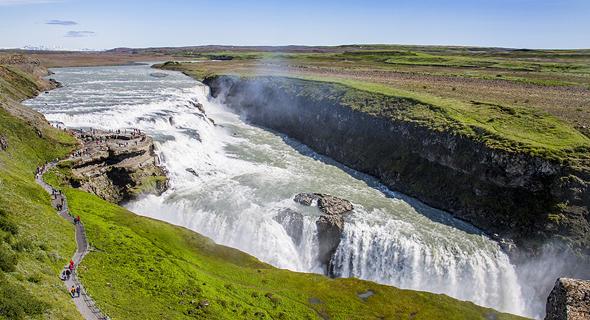 מפלי גולפוס, איסלנד, צילום: שאטרסטוק