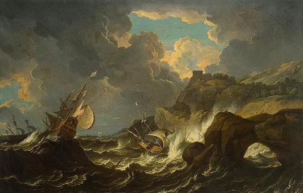 סערה בים, ציור מהמאה ה-17, צילום: Wikipedia