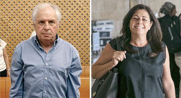 מימין איריס אלוביץ' ו שאול אלוביץ' בבית המשפט בשבוע שעבר, צילומים: אוהד צויגנברג