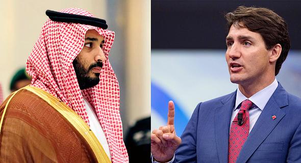 מימין ראש ממשלת קנדה ג'סטין טרודו והנסיך מוחמד בן סלמאן