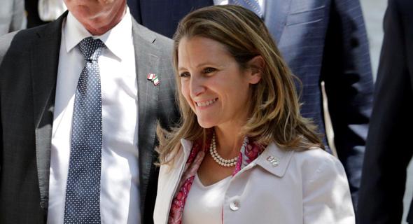 שרת החוץ הקנדית כריסטיה פרילנד. יחסים צוננים
