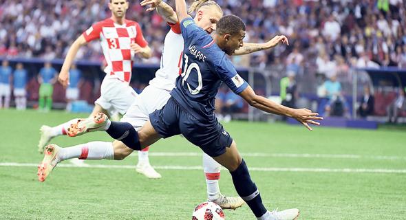 הגמר בין צרפת לקרואטיה, צילום: Hahn Lionel/ABACA