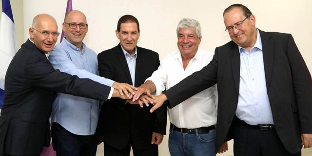 מימין: עמי אראל יפתח רון טל עופר בלוך ניר שטרן דורון כהן, צילום: סיון פרג׳