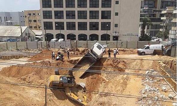 תאונת עבודה בשכונת פלורנטין באוגוסט 2018