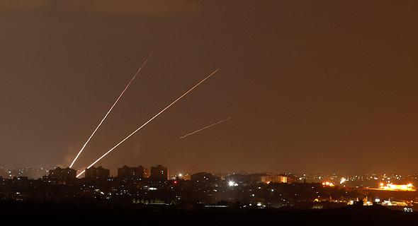 שיגור טילים טילי קאסם מעזה לשטח ישראל