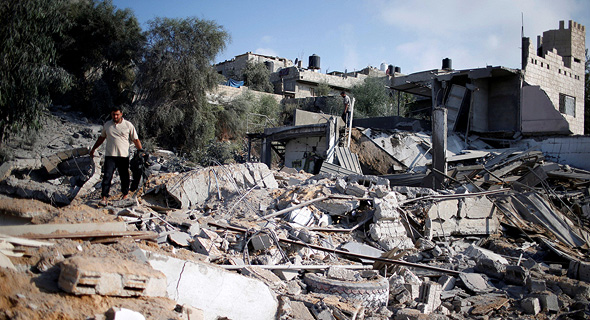 Gaza following recent bombings. Photo: Reuters