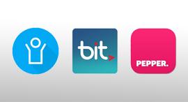 מימין: לוגו אפליקציית פפר פיי, ביט ופייבוקס. הבנקים מעוניינים לאפשר ללקוחות להעביר כספים מחשבון לחשבון מבלי לעבור דרך חברות כרטיסי האשראי