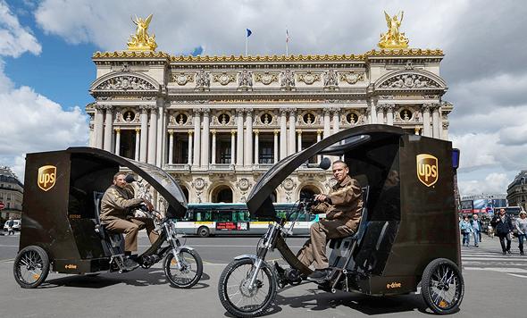 רכב חשמלי עירוני ש-UPS בוחנת