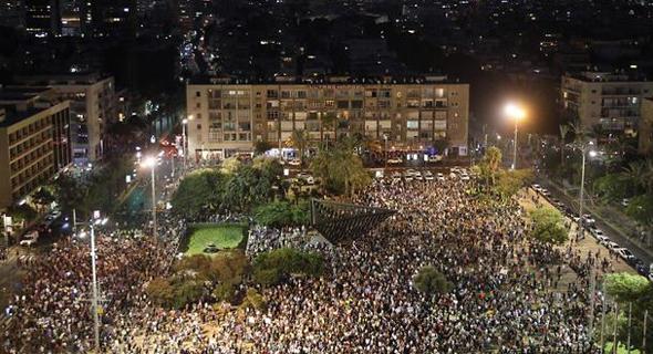 vהפגנה נגד חוק הלאום בתל אביב באוגוסט 2018