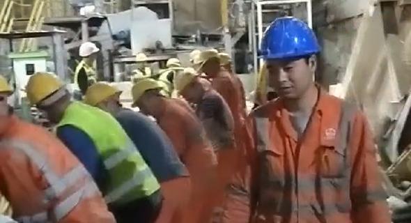 """עבודות הרכבת הקלה בת""""א מתוך סרטון באפליקציית דואו-אין , צילום: צילום מסך"""