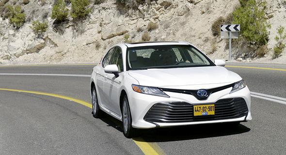 Hybrid Toyota Camry. Photo: Amit Sha'al