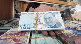 לירה טורקית מטבע כסף שטרות טורקיה, צילום: איי אף פי