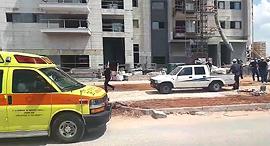 """אתר הבנייה, צילום: ניר שלהב/ תיעוד מבצעי מד""""א"""