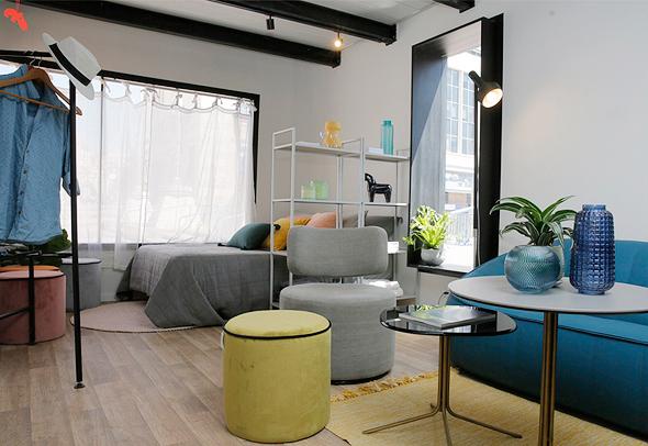 דירה לדוגמה במודל ה-Co-Living שהוצגה בירושלים. תכנון ועיצוב: אדריכל אסף שוקרון ואור בן נפלא, צילום: רונן חורש