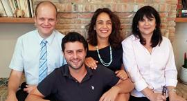 Air Doctor founders Yegor Kurbachev (left), Yam Derfler, Efrat Sagi-Ofir and Jenny Cohen Derfler. Photo: PR