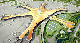 הדמייה של נמל התעופה בביג'ינג, צילום: chinadaily