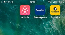 אפליקציות תיירות - booking, expedia, Airbnb