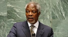 """מזכ""""ל האו""""ם לשעבר קופי אנאן, צילום: איי אף פי"""