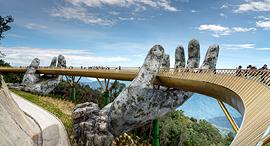 פוטו גשרים להולכי רגל גשר הזהב דה נאנג וייאטנם, צילום: שאטרסטוק