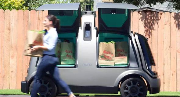 NURO משאית אוטונומית משלוחים רכב אוטונומי, צילום: Kroger