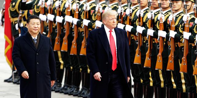 """נשיא ארה""""ב דונלד טראמפ ונשיא סין שי ג'ינפינג"""