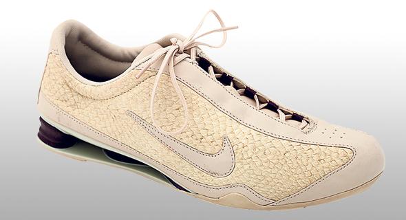 נעל של נייק מעור דגים. תהליך העיבוד מנטרל גם את הריח