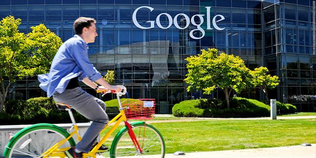 מטה גוגל אופניים עובדים מאונטיין וויו קליפורניה, צילום: youtube