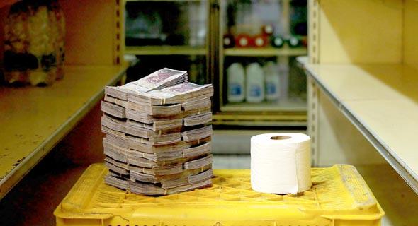 המשבר הכלכלי של ונצואלה - שווי של גליל נייר טואלט
