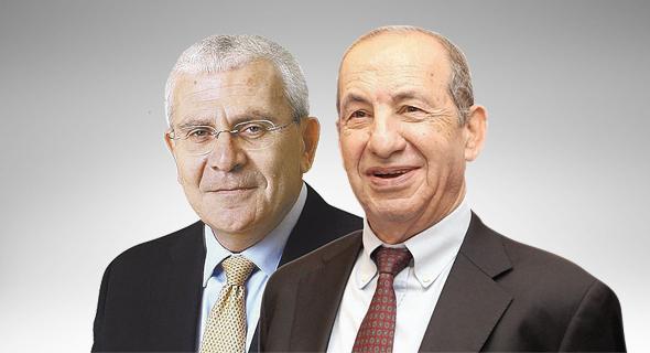 """מימין יו""""ר בנק מזרחי טפחות משה וידמן ומנכ""""ל הבנק לשעבר אלי יונס, צילום: אוראל כהן"""