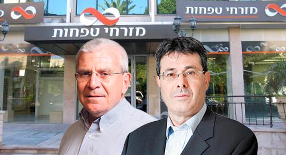 אלדד פרשר ו אלי יונס בנק מזרחי, צילום: עמית שעל