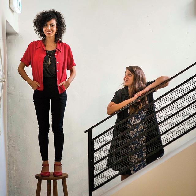 מגזין נשים 3.9.18 מימין דפני ליף ו רנא אבו פריחה, צילום: תומי הרפז