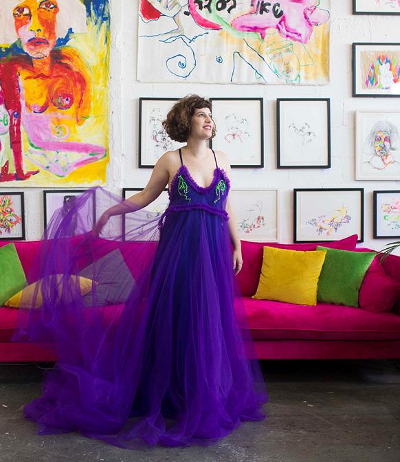 מגזין נשים 3.9.18 שחר אבנט מעצבת אופנה, צילום: תומי הרפז