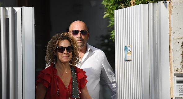 איתי שטרום ואשתו הבוקר, צילום: יאיר שגיא