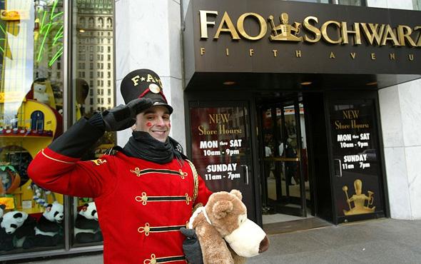 חנות הצעצועים F.A.O Schwartz. תעסיק שחקנים ורקדנים, צילום: גטי אימג