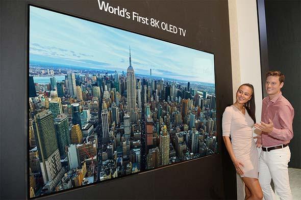 טלוויזיית 8k של LG, הגדולה מסוגה בעולם