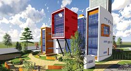 """הדמיית בית הספר צמרות זירת הנדל""""ן, הדמיה: מילוסלבסקי אדריכלים"""