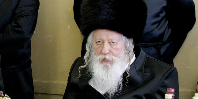 """הרב יעקב אריה אלתר, האדמו""""ר מגור, צילום: שוקי לרר"""