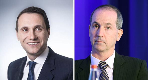 """מימין: מנכ""""ל מקס רון פאינרו ודניאל זילברמן מנכ""""ל ורבורג פינקוס"""