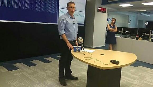 """מנכ""""ל פלאפון רן גוראון במסיבת העיתונאים, צילום: ynet"""