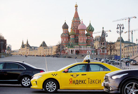 a Yandex taxi. Photo: Bloomberg