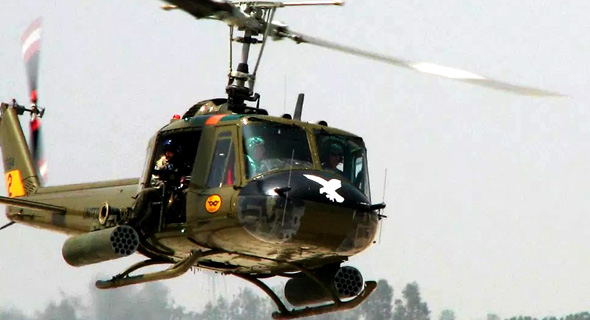 מסוק בל UH1, בגרסה שנושאת חימוש לתקיפה