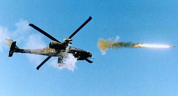 מסוק אפאצ'י משגר טיל נגד טנקים