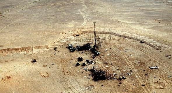 """מכ""""מ עיראקי שהושמד בידי מסוקי אפאצ'י בפתיחת מלחמת המפרץ הראשונה"""