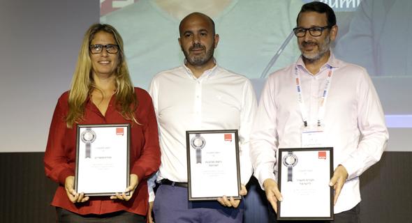 נציגי החברות הזוכות: במרכז גולן כהן מישרוטל שזכתה במקום הראשון