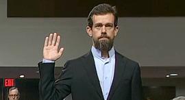 שריל סנדברג ג'ק דורסי עדות סנאט, צילום: מסך משידור ישיר של CSPAN  ביוטיוב