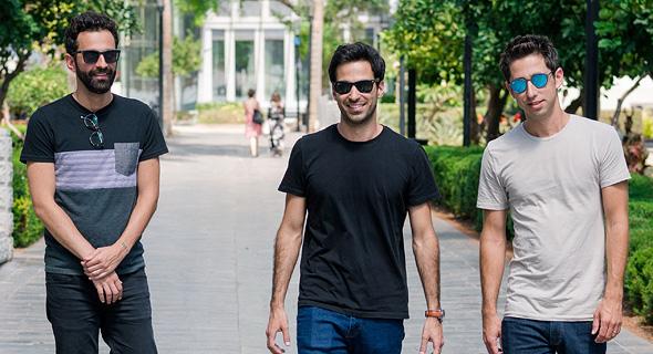 EquityBee founders Arik Moav (left), Oded Golan, and Oren Barzilai. Photo: Nufar Tagar
