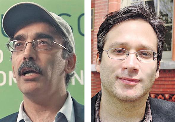 מימין: פרופ' גארי מרקוס, רושיר פורי