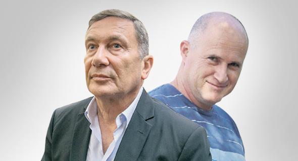 מימין: הניצב רוני ריטמן ו נוחי דנקנר, צילום: אוהד צויגנברג, תומריקו