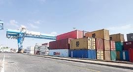 מכולות מזון בנמל אשדוד, צילום: גדי קבלו